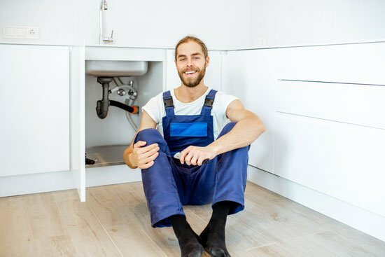 louth plumber sitting on the floor